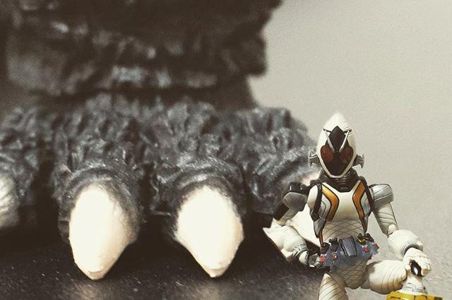 「フォーゼ、ゴジラ倒すってよ」#オモ写#仮面ライダー#フォーゼ#ゴジラ#Godzilla#一眼レフ#ファインダー越しの私の世界#フィギュアーツ #フィギュアーツ写真部#フィギュア撮影友の会#特撮 #フィギュア #ミニチュア#maskedrider #figma#toycrewbuddies#toyoutsiders#toysphoto#toysphotography#figure#figmaniatfigurine#figmagram#toyplanet#toyoutsiders#9000d