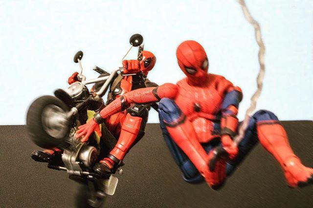 最近気付いた事、、、赤ばっかwww#オモ写#スパイダーマン#Spiderman#figma#マーベル#デッドプール#Deadpool#海洋堂#リボルテック#Revoltech#一眼レフ#ファインダー越しの私の世界#フィギュア#marvel#toysphoto#toysphotography#figure#toyplanet#9000d