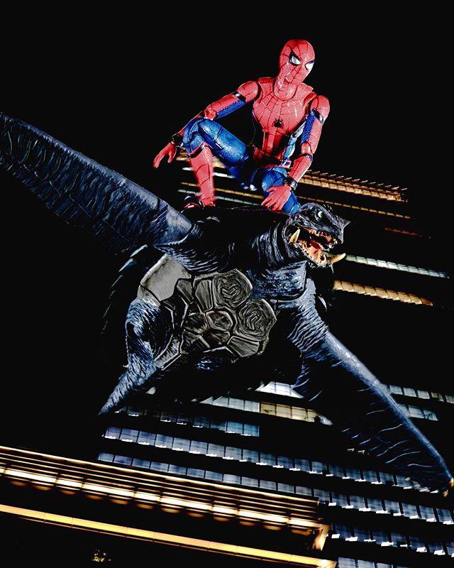 「夜間飛行」#オモ写#ガメラ#gamera#SHモンスターアーツ#SHMonsterArts#スパイダーマン#Spiderman#figma#マーベル#一眼レフ#ファインダー越しの私の世界#フィギュア#marvel#toysphoto#toysphotography#figure#toyplanet#canon#9000d#6dmark2#オモ写で遊ぼ!