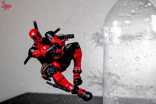 映画楽しみだー(*´∀`*) #オモ写#デッドプール#Deadpool#マーベル#一眼レフ#海洋堂#ファインダー越しの私の世界#フィギュア #リボルテック#Revoltech#marvel#toysphoto#toysphotography#figure#toyplanet#9000d#6dmark2#オモ写
